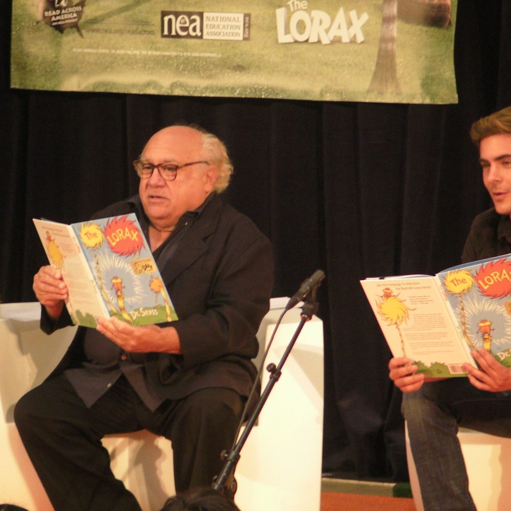 Part 1 Zac Efron and Danny DeVito At The New York Public Library.