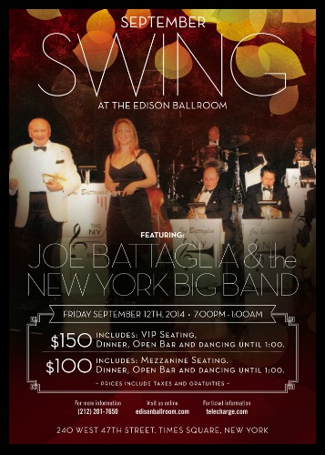 Swing In September: The Edison Ballroom.