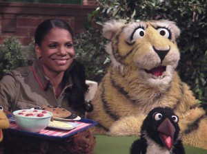 A is For Audra and Abby: Interview with Audra McDonald and Abby Cadabby at Sesame Street.