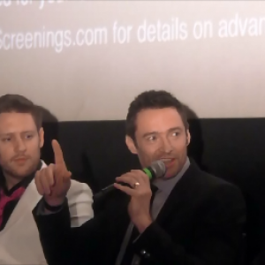 Chat With The Cast Of Chappie. (Hugh Jackman part 1) 1