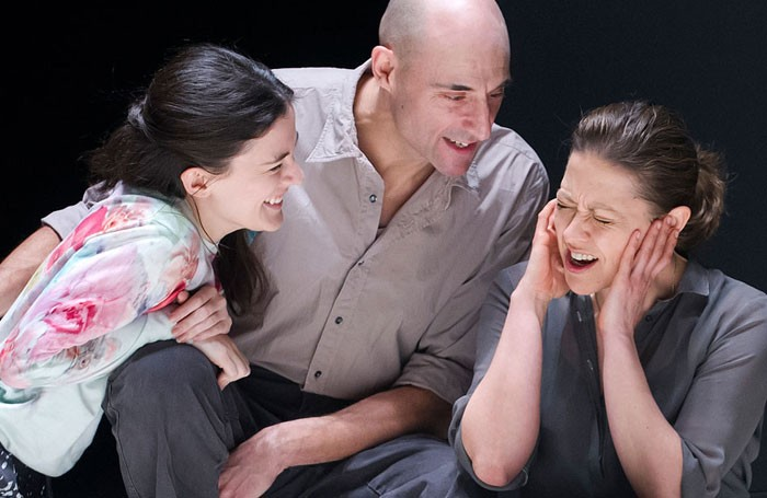 Phoebe Fox, Mark Strong and Nicola Walker in a scene from Arthur Miller's A View from the Bridge.