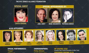 ANN REINKING HONORED AT NEW YORK CITY DANCE ALLIANCE GALA.