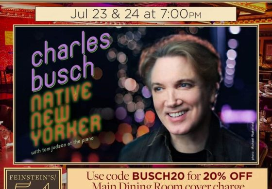 See Charles Busch At 54 Below June 23 , 24.
