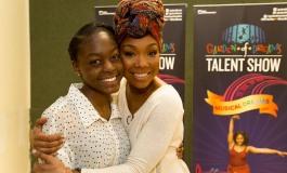 Brandy Mentors Kids In  Garden of Dreams Talent Show.